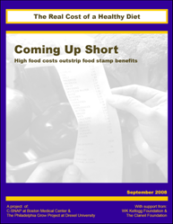 Coming Up Short High Food Costs Outstrip Stamp Benefits The Real Cost Of A Healthy Diet Boston 2008