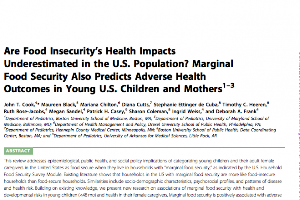 More On Adverse Developmental Impacts >> Are Food Insecurity S Health Impacts Underestimated In The U S